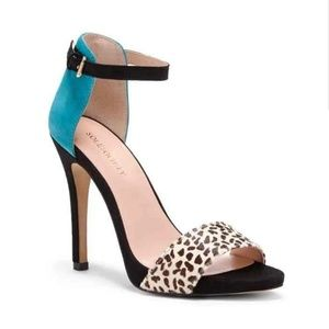 Sole Society Shoes - Sole society calf hair leather heels sheila